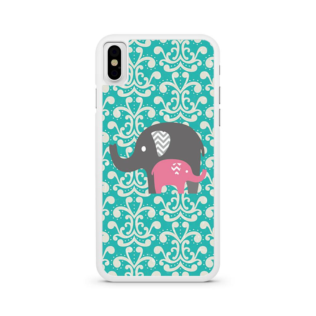 Baby Elephants Pattern iPhone X case
