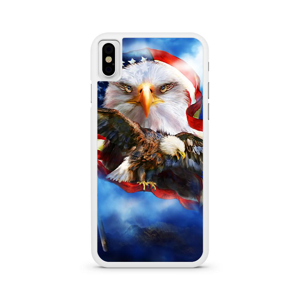Bald Eagle American Flag iPhone X case