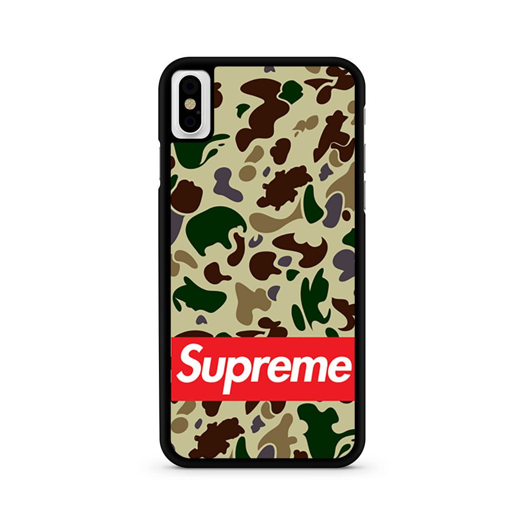 Bape Bathing Ape Camo Supreme iPhone X case