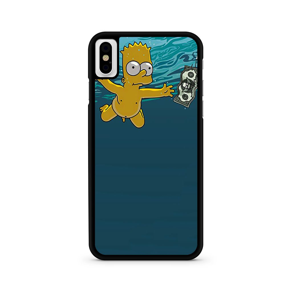 Bart Simpson Nirvana Nevermind iPhone X case