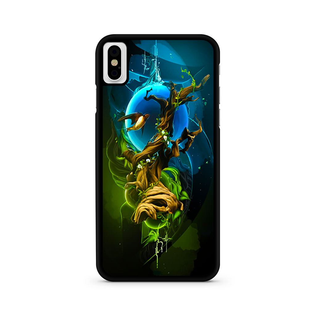 Abstract Nature Tree Bird iPhone X case