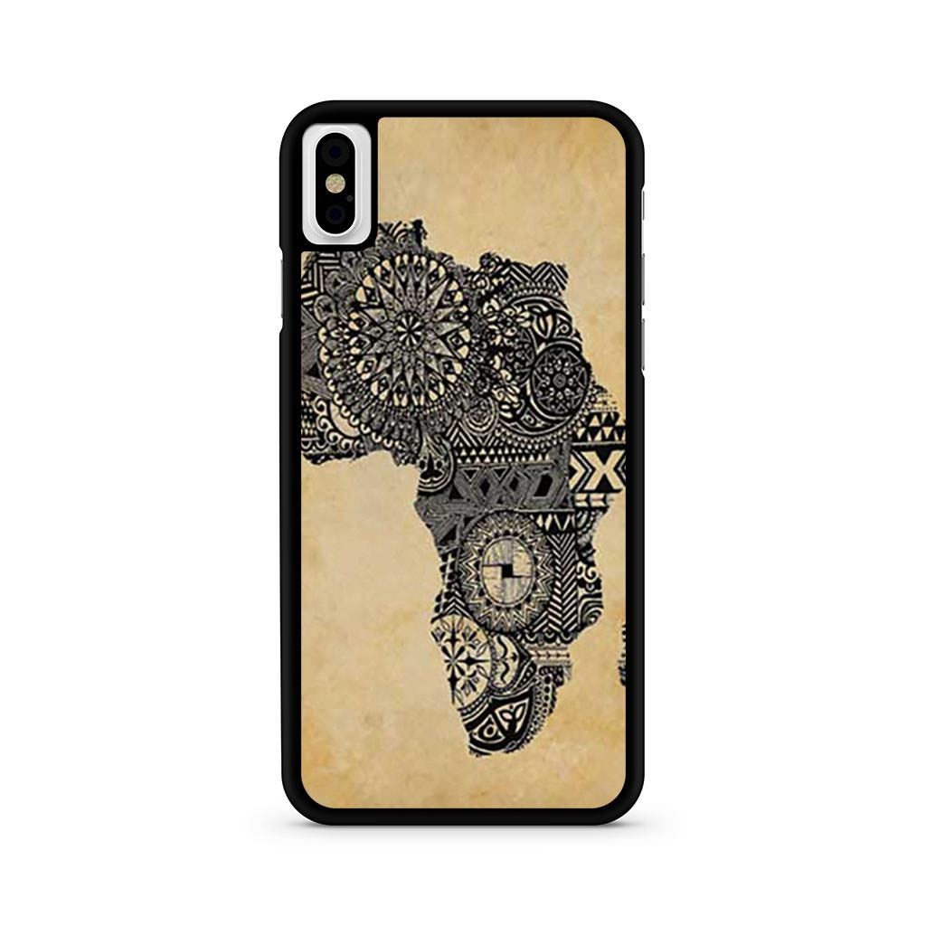 Africa Parchment iPhone X case