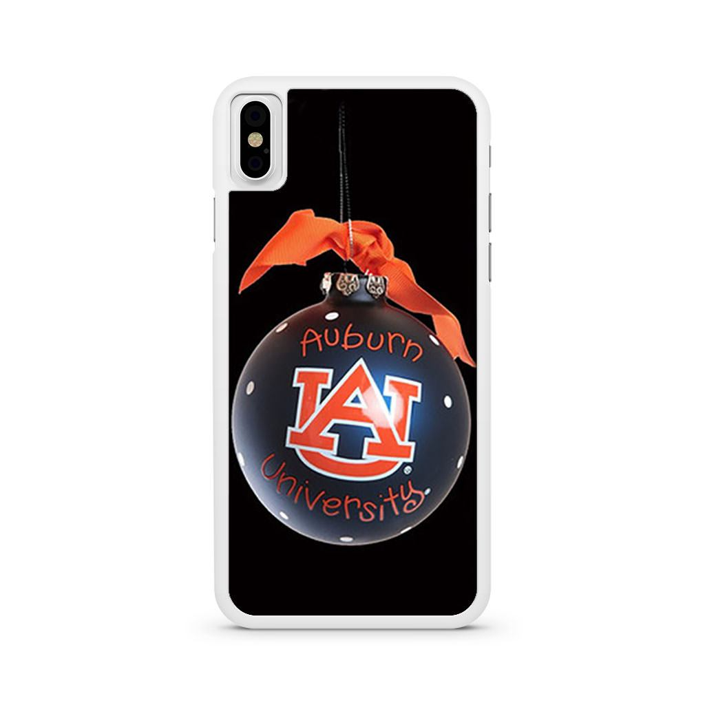 Auburn University Christmas Baubles iPhone X case