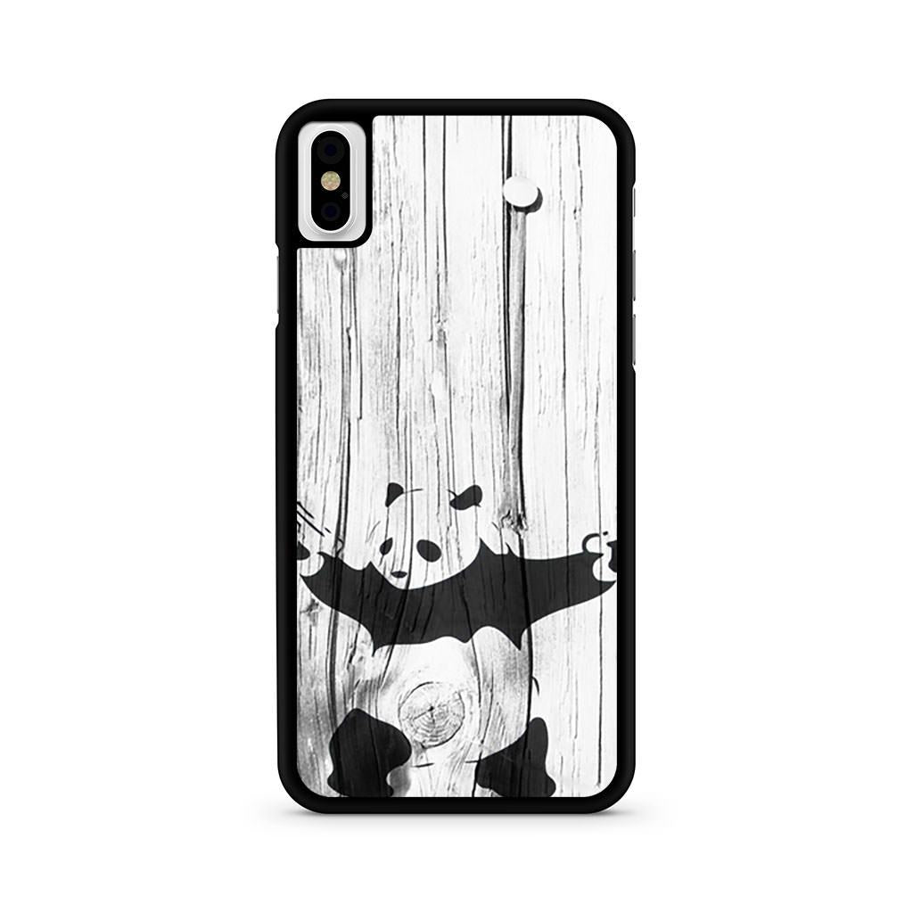 Banksy Graffiti Panda iPhone X case