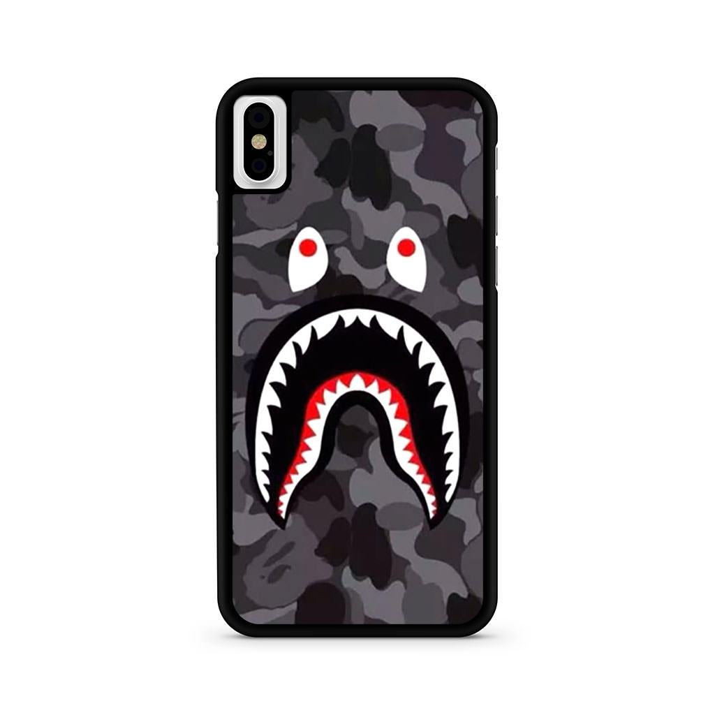 Bape Shark Black Army Pattern iPhone X case