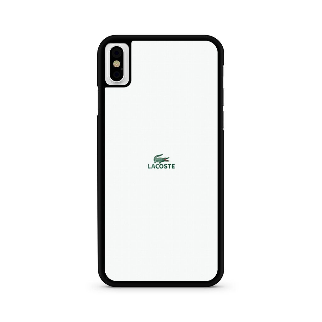 Lacoste Crocodile Logo iPhone X case