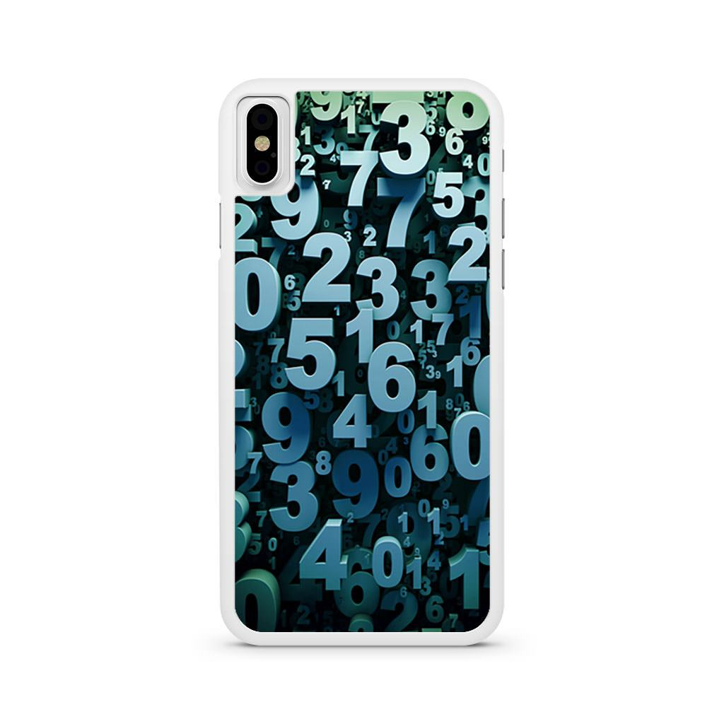 Abstract 3D Numbers iPhone X case