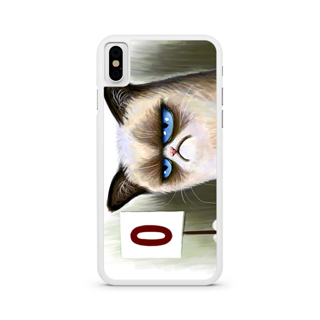 Angry Cat Grumpy iPhone X case