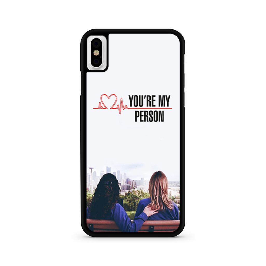 Greys Anatomy You're My Person iPhone X case