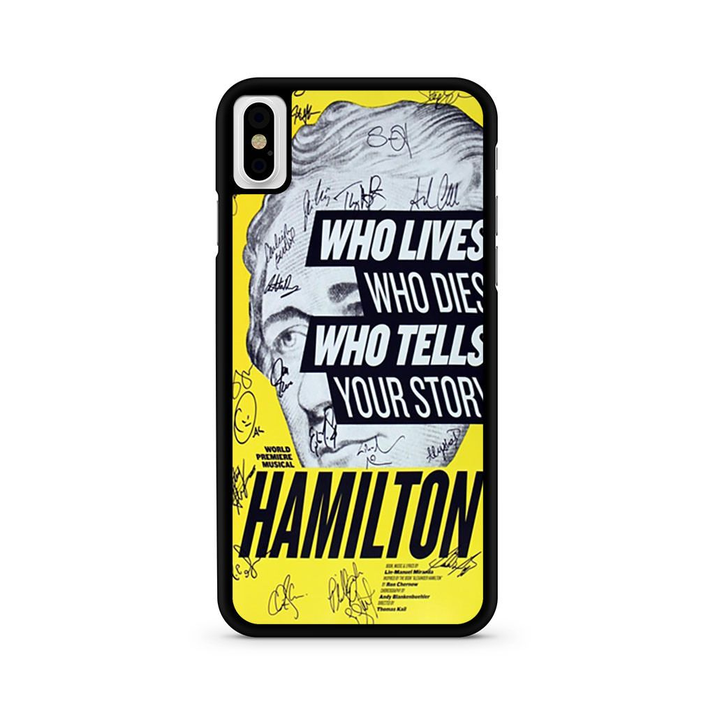 Hamilton Playbill Signatures iPhone X case