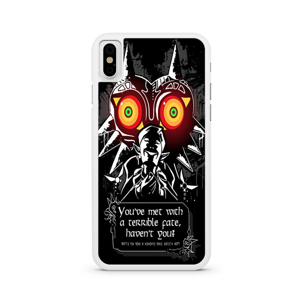 Majoras Mask Meeting With A Terrible Fate iPhone X case