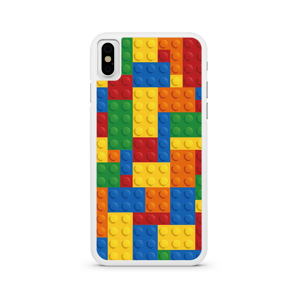 Lego Inspired Brick Pattern iPhone X case