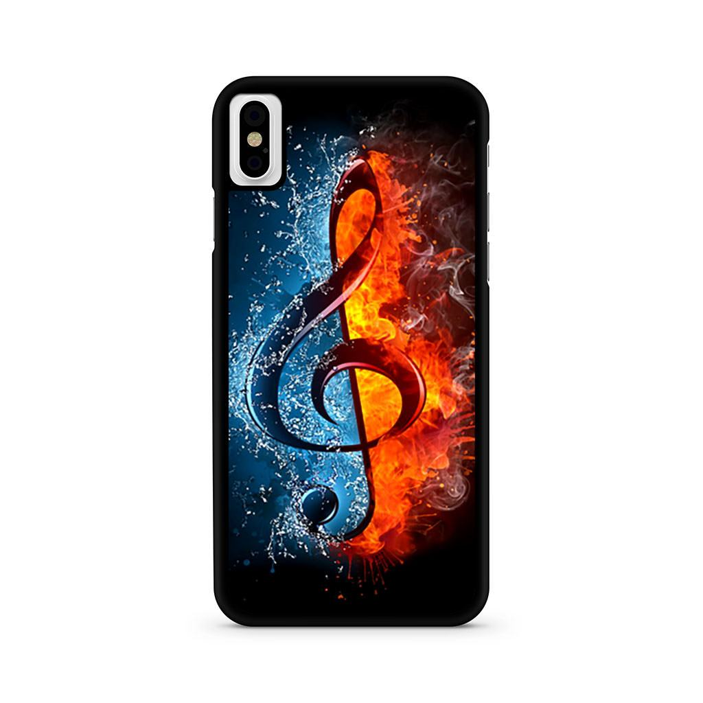 Music Note Flames iPhone X case