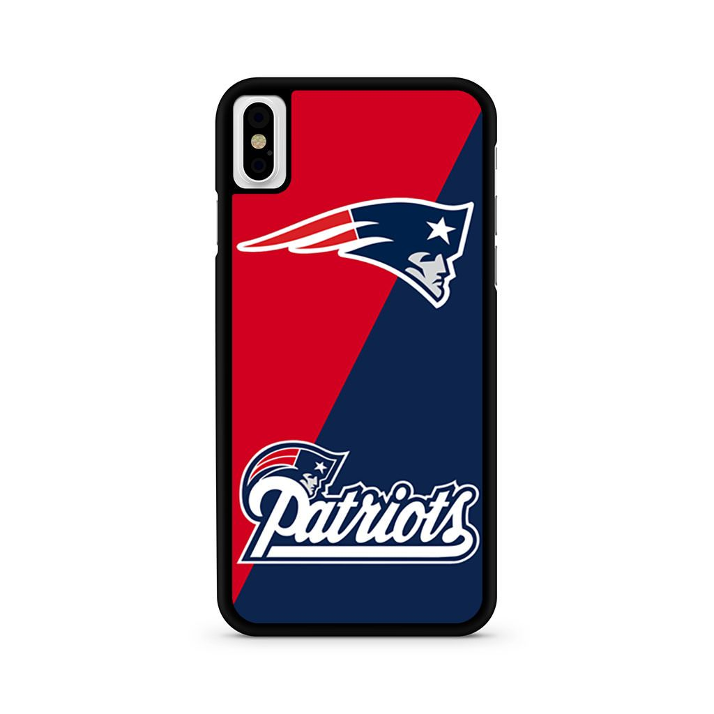 New England Patriots Blue Logo iPhone X case