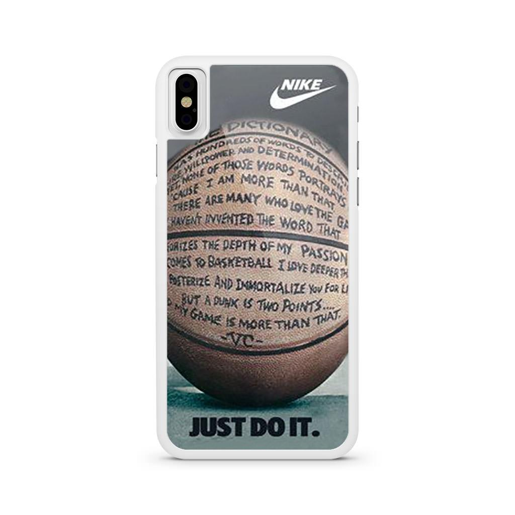 Nike Basketball Just Do It And Passion iPhone X case