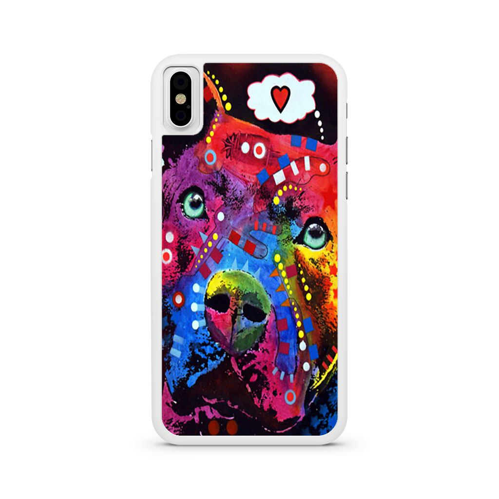 Pitbull Painting Colorfull iPhone X case
