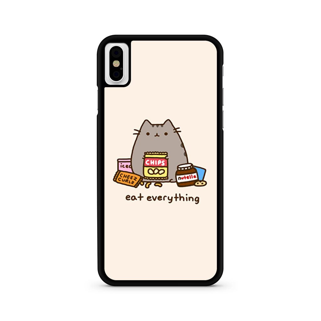 Pusheen The Cat Eat Every Thing iPhone X case
