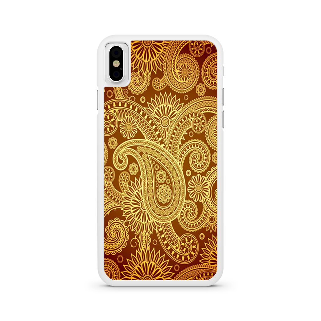 Gold Paisley Pattern iPhone X case