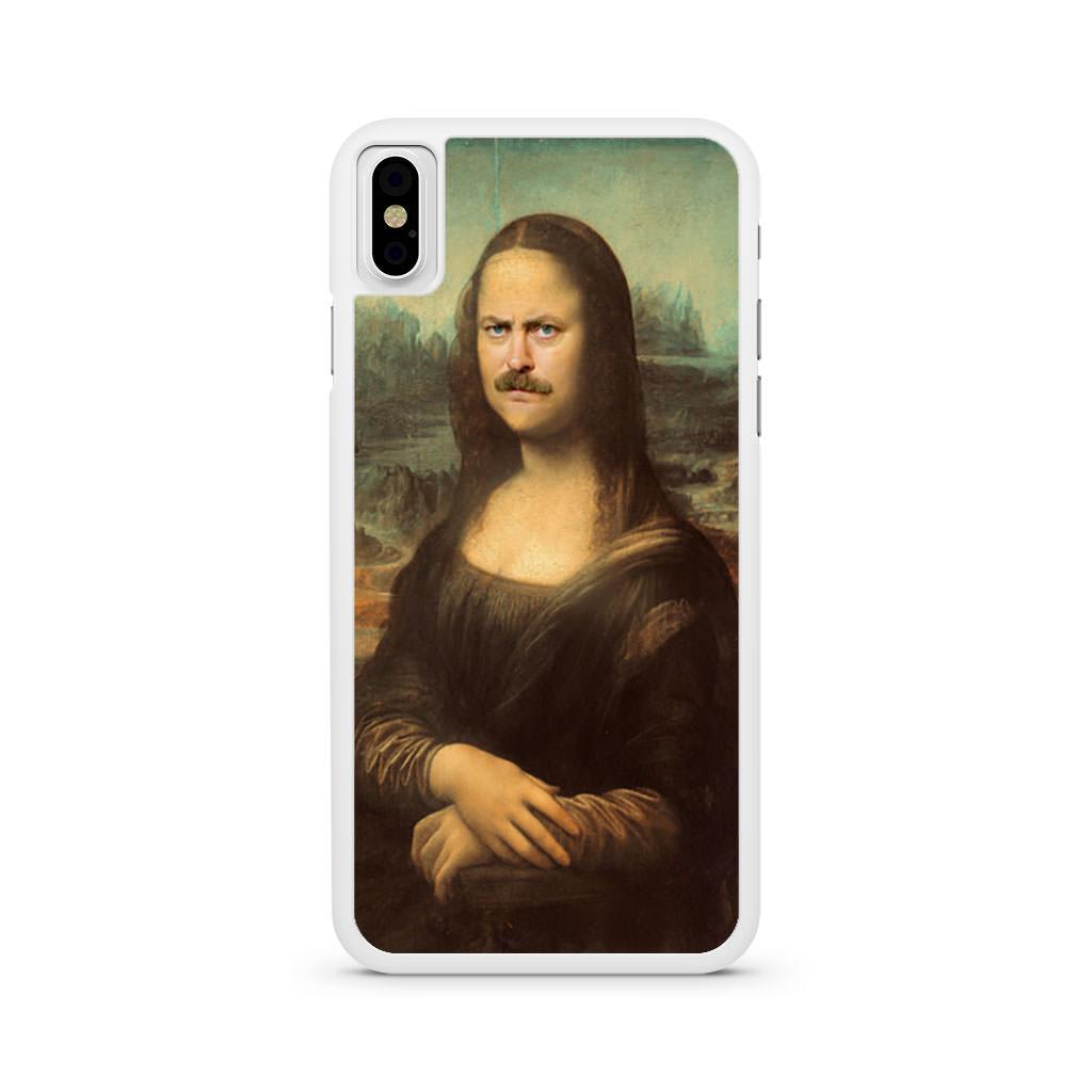 Ron Swanson Mona Lisa iPhone X case