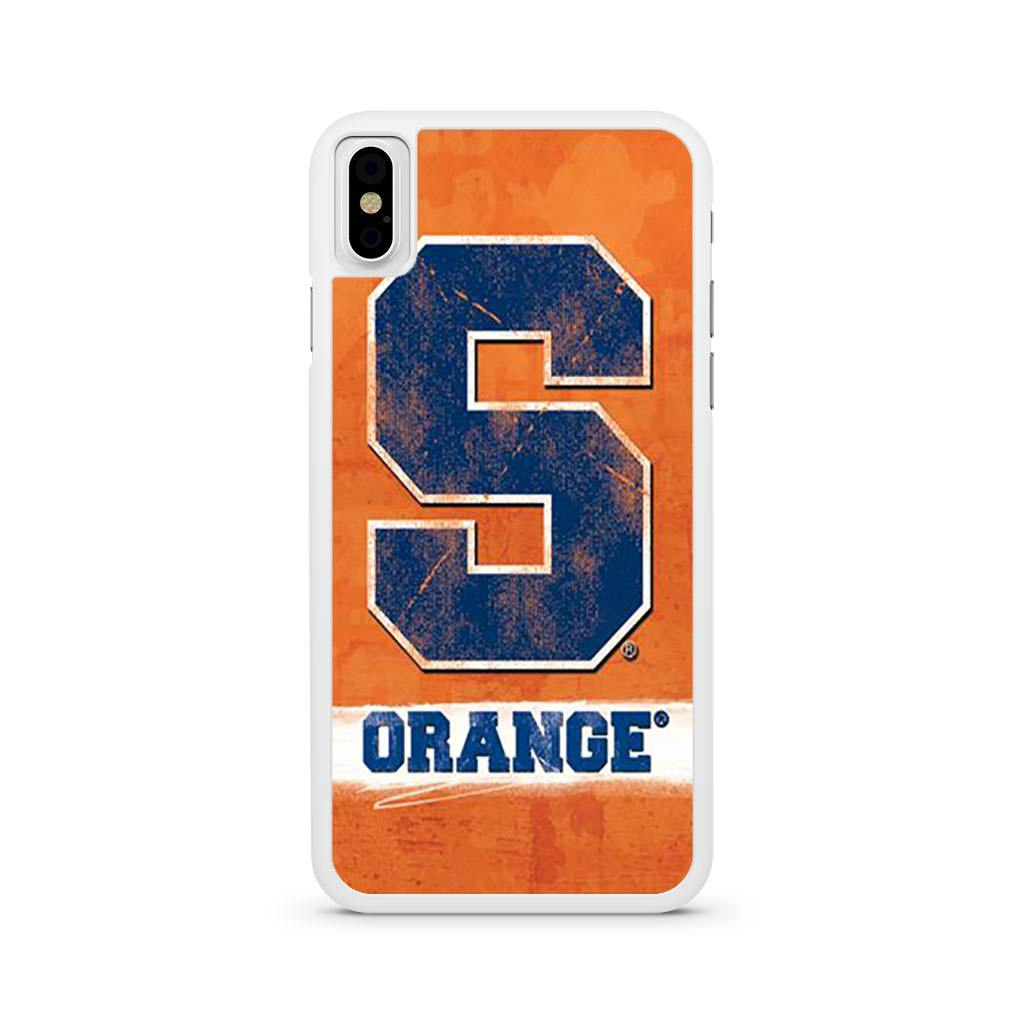 Syracuse Orange iPhone X case