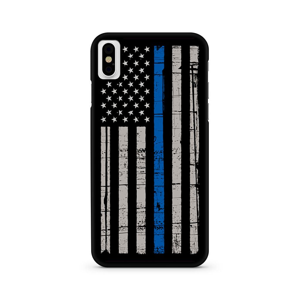 The Thin Blue Line Usa Flag iPhone X case