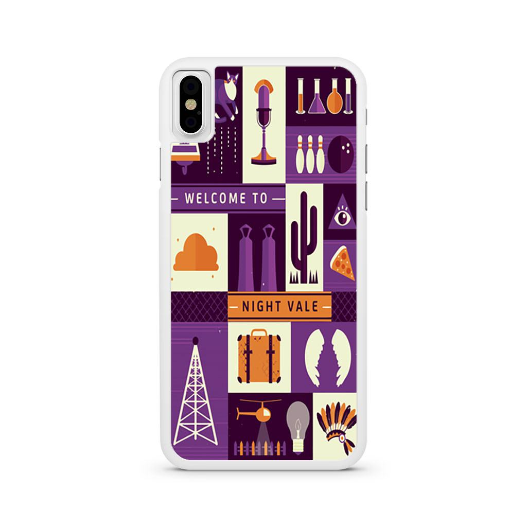 Welcome To Night Vale Poster iPhone X case