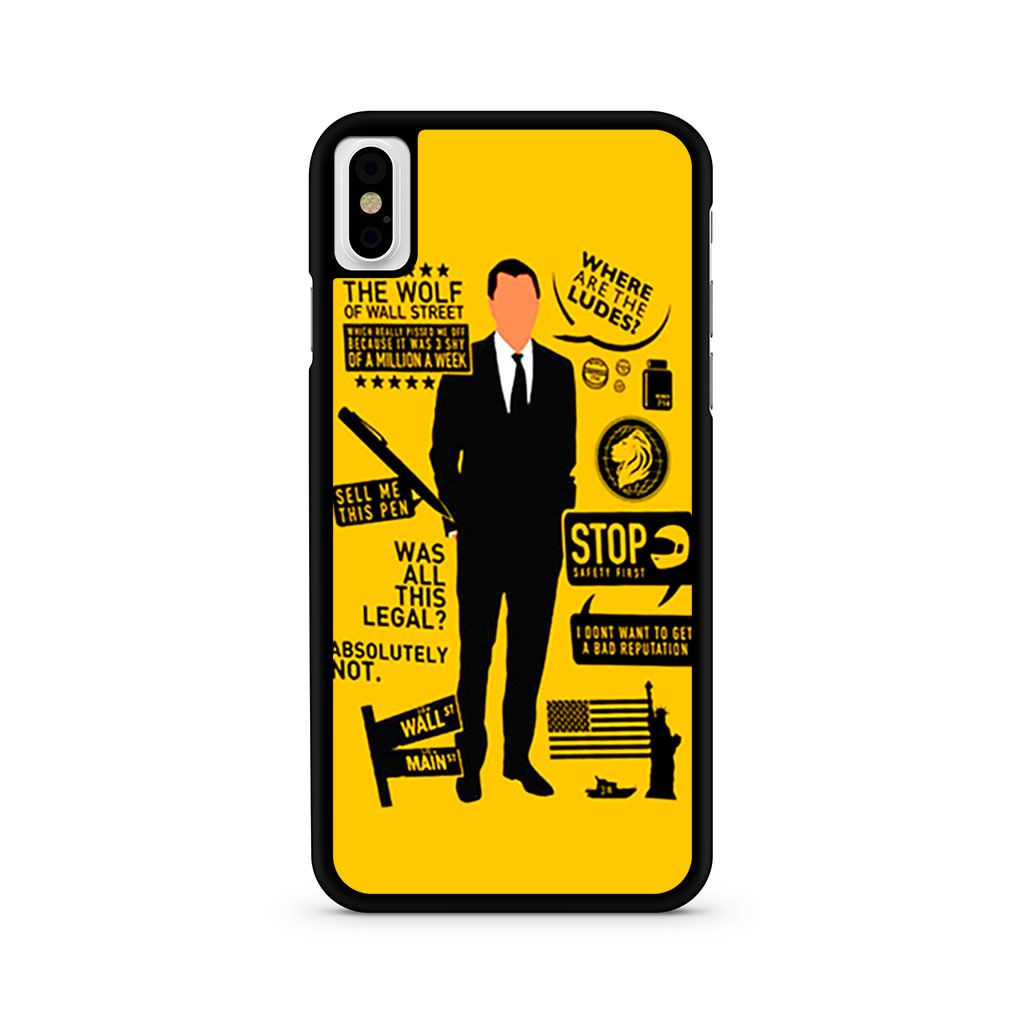 Wolf Of Wall Street Quotes iPhone X case