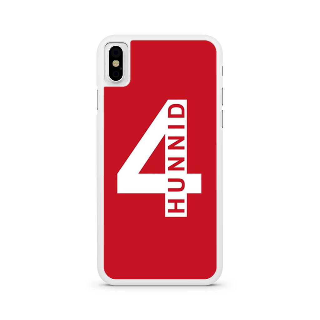 4Hunnid iPhone X case
