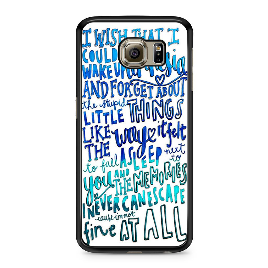 5 Seconds of Summer Amnesia Lyrics Samsung Galaxy S6 case