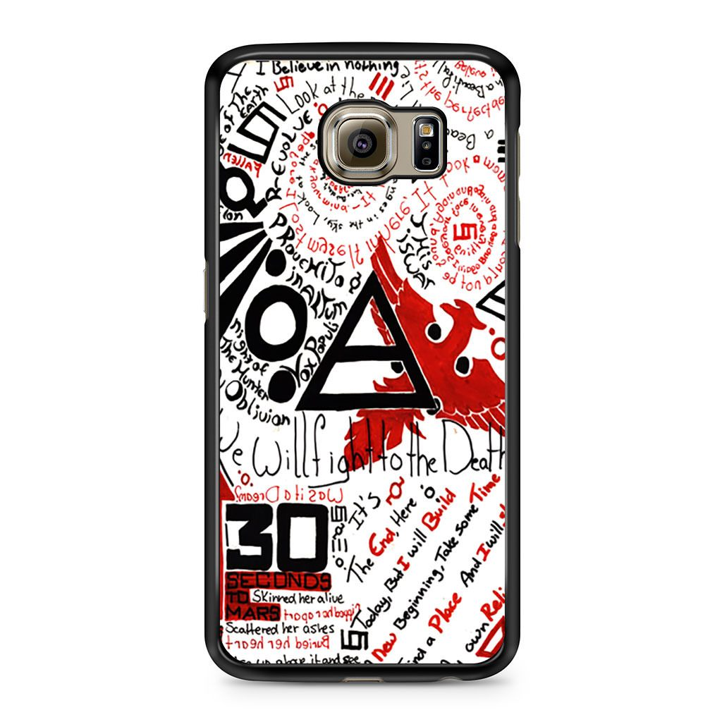 30 Seconds to Mars Collage Samsung Galaxy S6 case