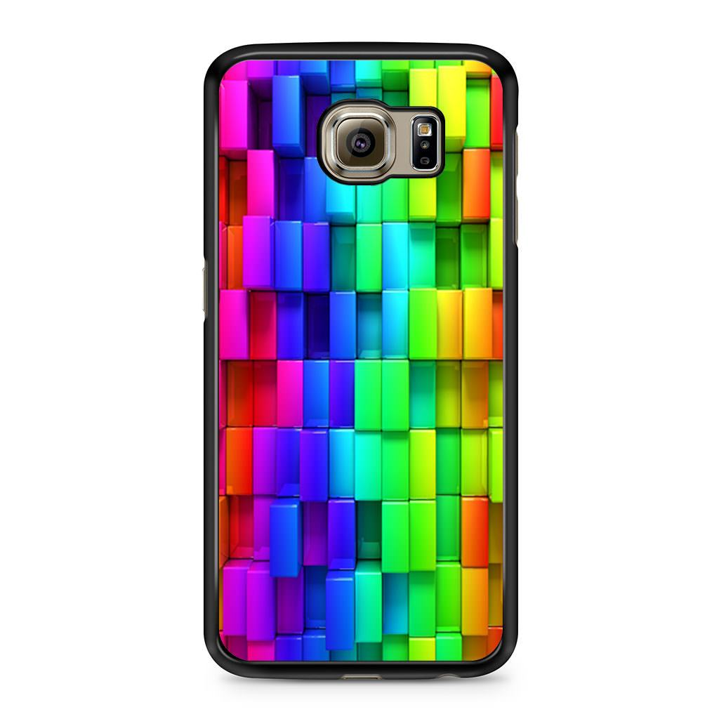 3d Rainbow Blocks Samsung Galaxy S6 case