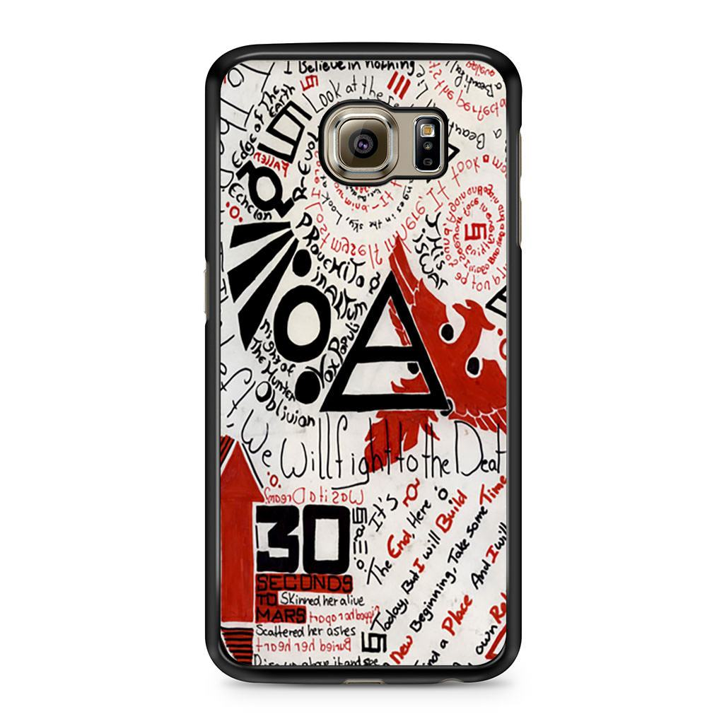 30 Second To Mars Quotes Samsung Galaxy S6 case