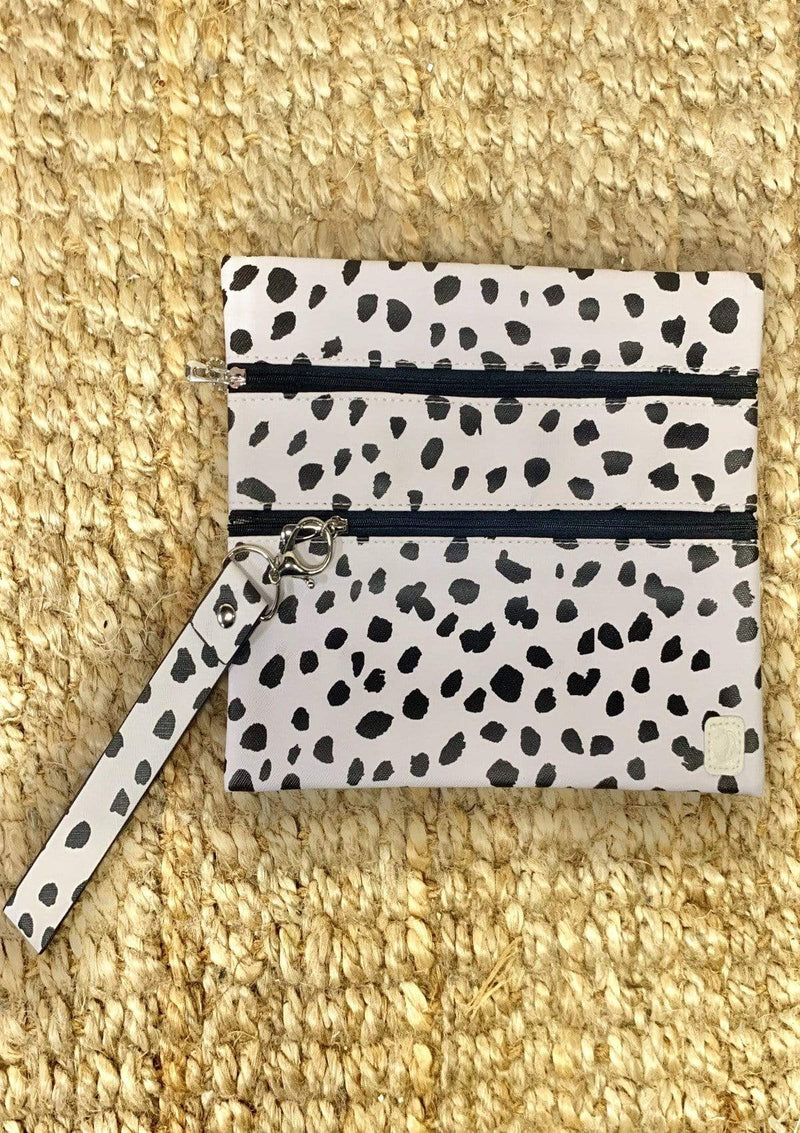 ACCESSORIES BLACK/WHITE Spotted Makeup Bag