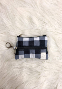 White Plaid Mask Bag