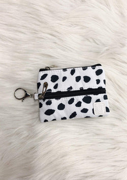 ACCESSORIES BLACK/WHITESPOTTED Black And White Spotted Mask Bag