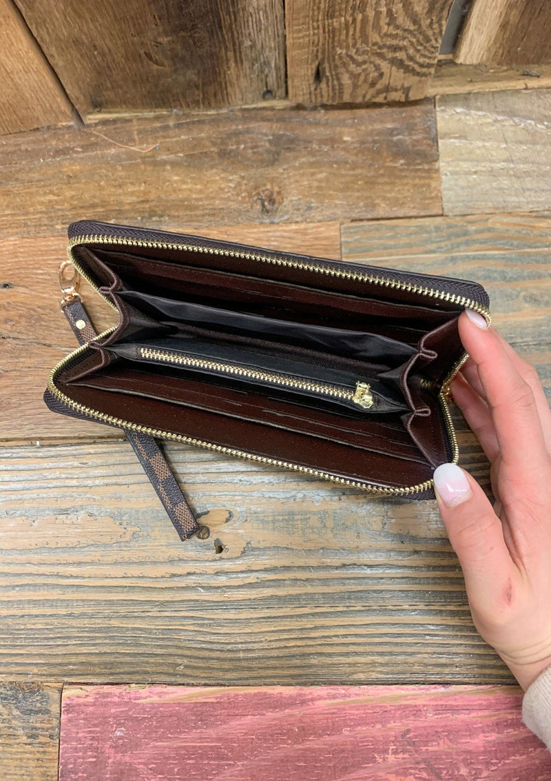 ACCESSORIES Brown Brown Checked Wallet