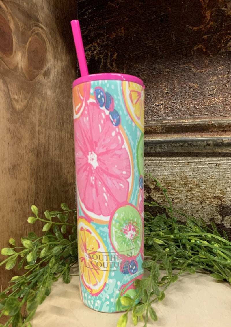 Citrus Insulated Skinny Tumbler