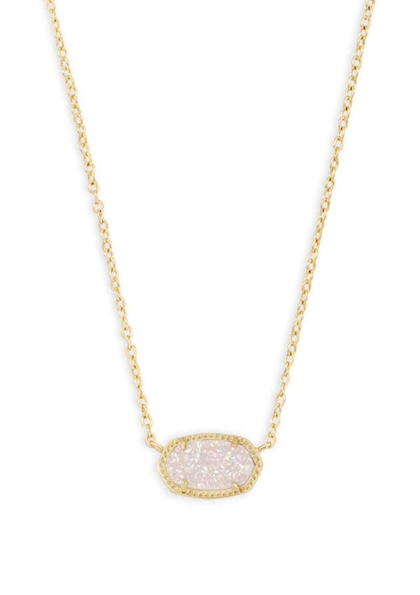 ACCESSORIES Elisa Necklace Gold Iridescent Drusy