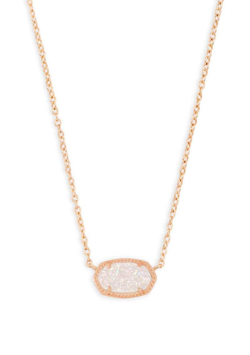 ACCESSORIES Elisa Necklace Rose Gold Iridescent Drusy