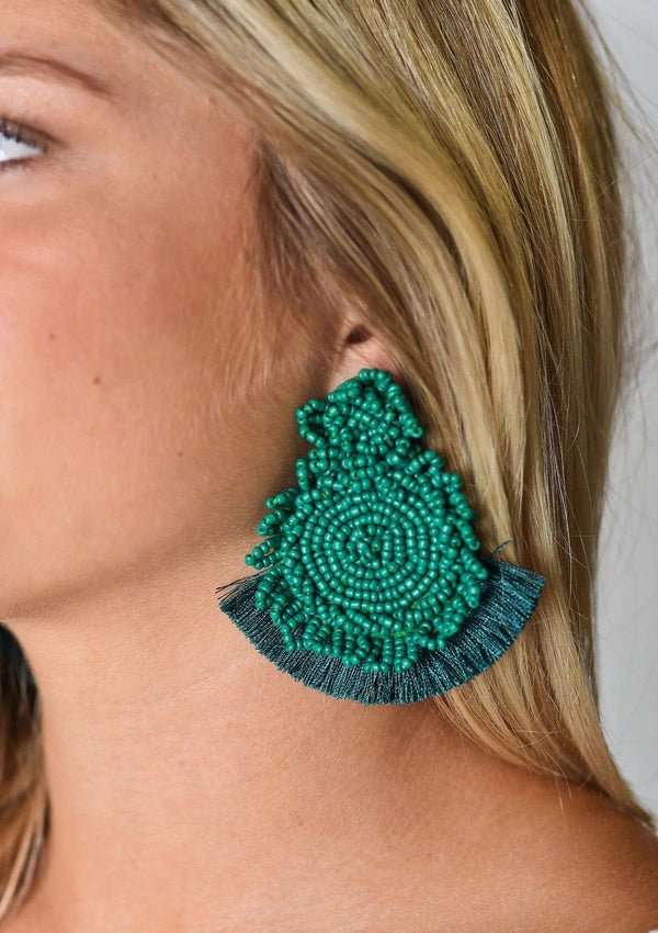 ACCESSORIES EMERALD Green with Envy Earrings