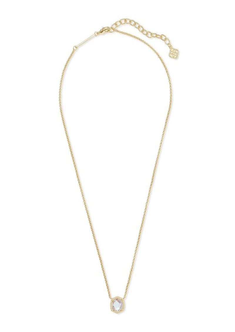 ACCESSORIES GLDDICHROICGLASS Kendra Scott Davie Gold Dichroic Short Pendant Necklace