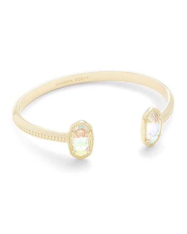 ACCESSORIES GOLDDICHROICGLASS Kendra Scott Gold Dichroic Glass Cuff Bracelet