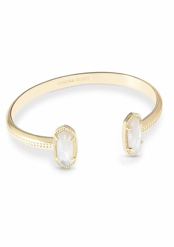 ACCESSORIES GOLDIVORYMOP Kendra Scott Gold Ivory Mother Of Pearl Cuff Bracelet