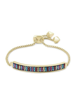 ACCESSORIES GOLDJEWELTONEMIX Kendra Scott Jack Gold Multi Crystal Chain Bracelet