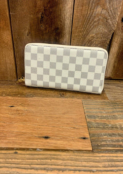 ACCESSORIES Ivory Ivory Checked Wallet