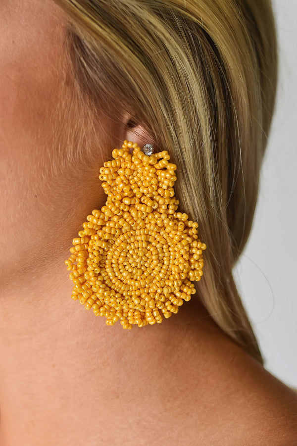 ACCESSORIES MUSTARD Charmed Life Earrings in Mustard