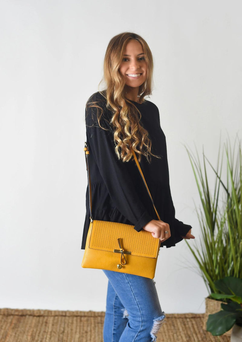 ACCESSORIES MUSTARD My Wish Crossbody in Mustard