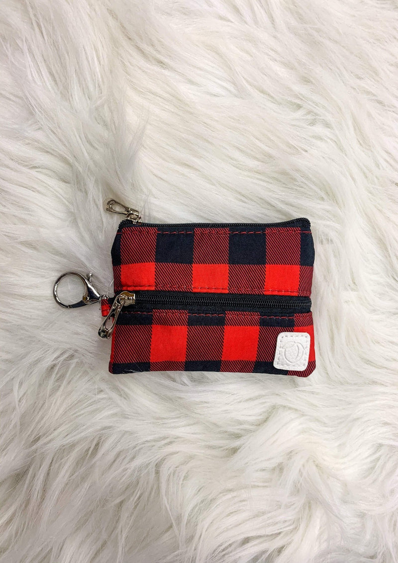 Red Plaid Mask Bag