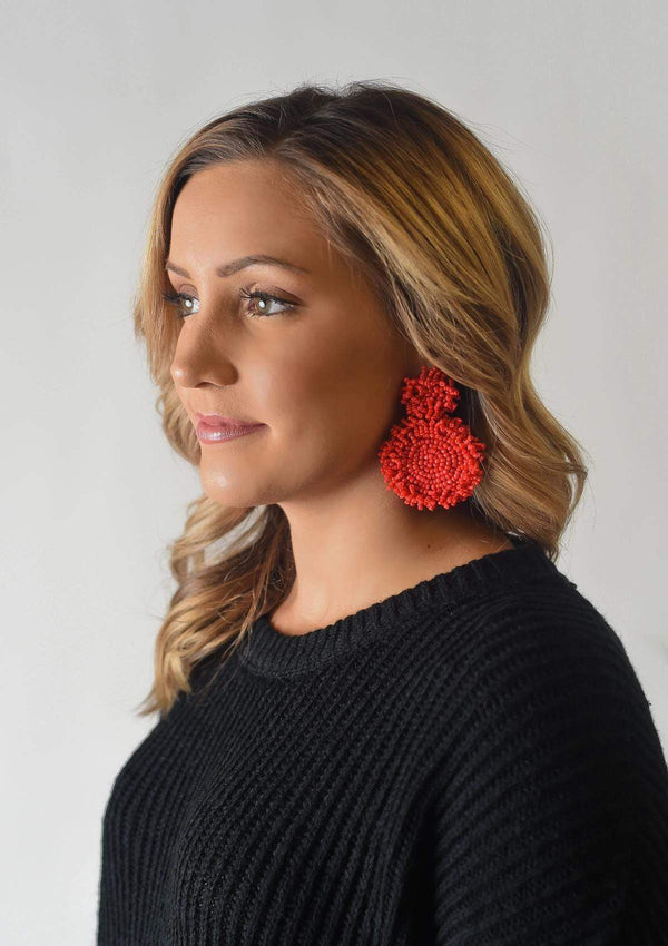 ACCESSORIES RED Lucky Charm Earrings