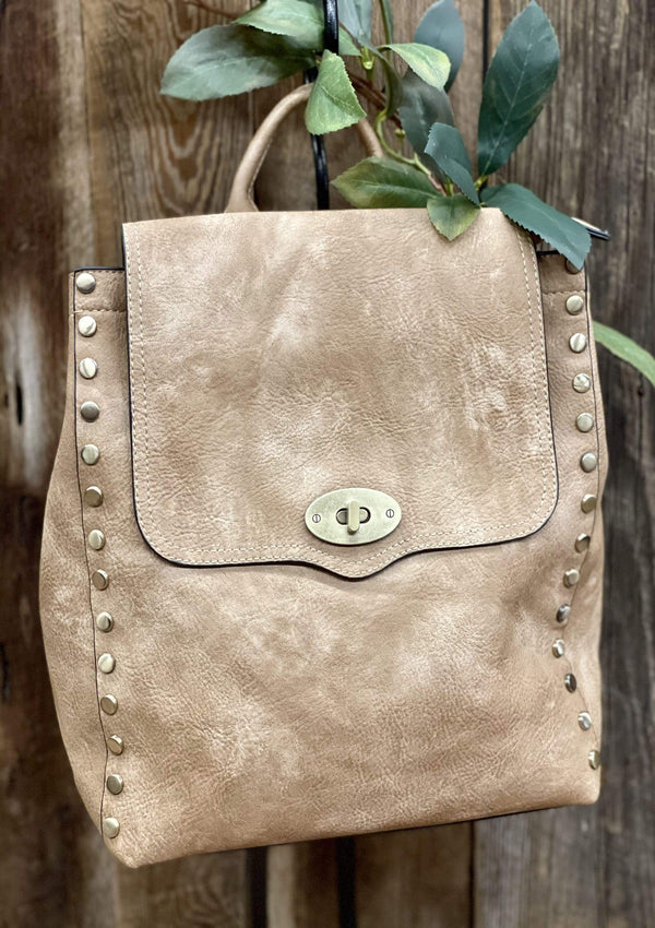 ACCESSORIES TAN Downtown Distressed Backpack